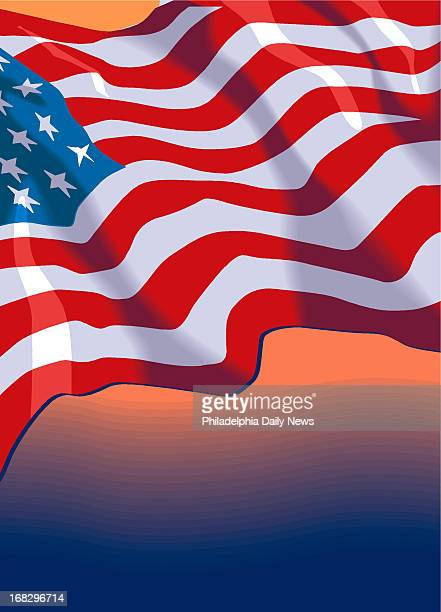 Amy Raudenbush illustration of wavy flag Can be used as background for stories or with stories