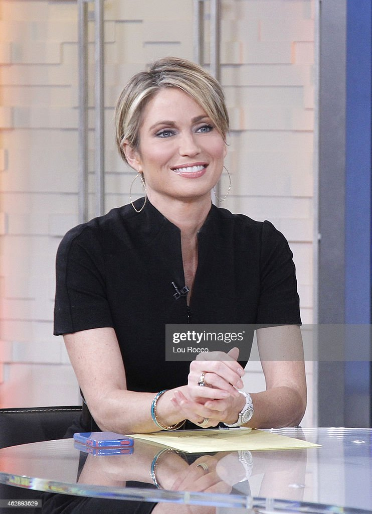 AMERICA - Amy Robach on 'Good Morning America,' 1/15/13, airing on the ABC Television Network. AMY