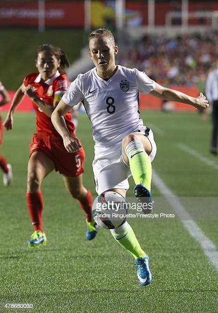 Amy Rodriguez of the United States controls the ball in the second half against China in the FIFA Women's World Cup 2015 Quarter Final match at...