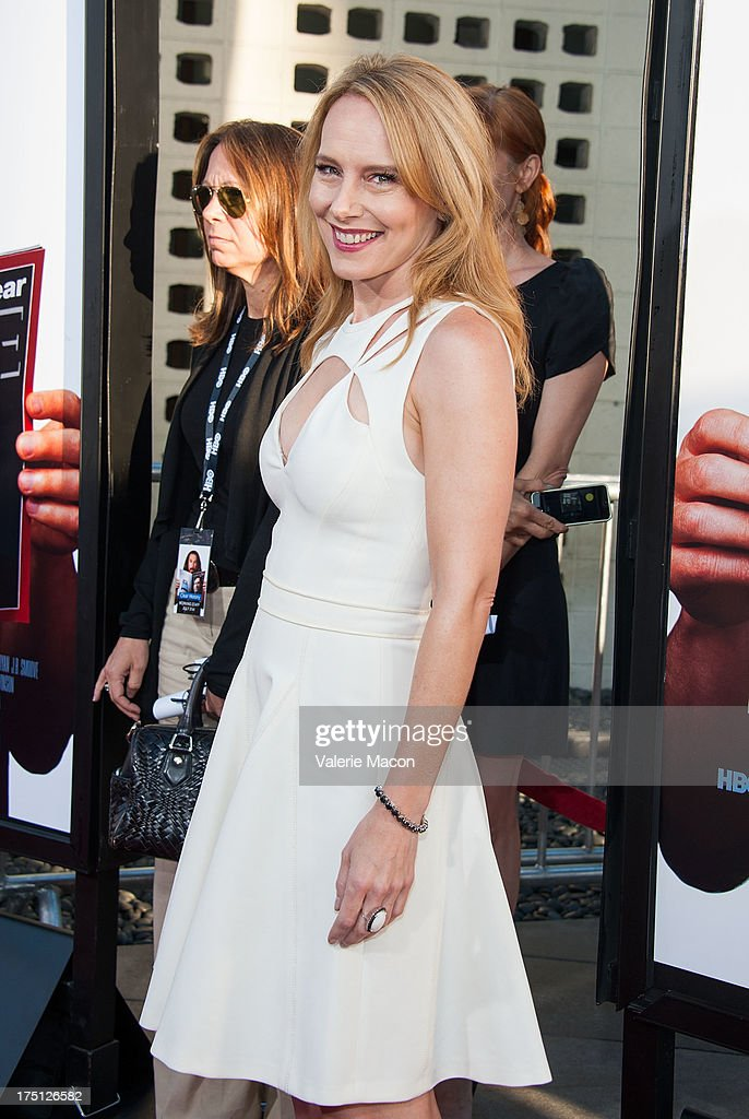 Amy Ryan arrives at the Premiere Of HBO Films' 'Clear History' at ArcLight Cinemas Cinerama Dome on July 31, 2013 in Hollywood, California.