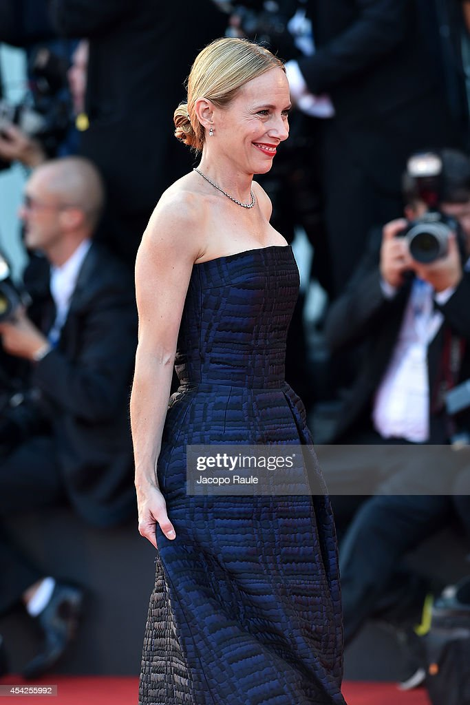 Amy Ryan attends the Opening Ceremony and 'Birdman' premiere during the 71st Venice Film Festival at Palazzo Del Cinema on August 27 2014 in Venice...