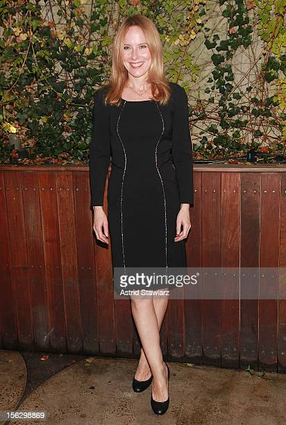 Amy Ryan attends the 'Salute To New York Theatre' at Maritime Hotel on November 12 2012 in New York City