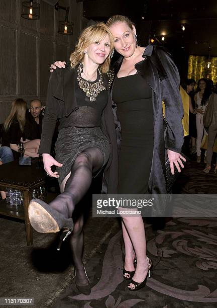 Amy Sacco and Courtney Love attend the 2011 Tribeca Film Festival afterparty presented by American Express and The Cinema Society for 'Last Night' at...