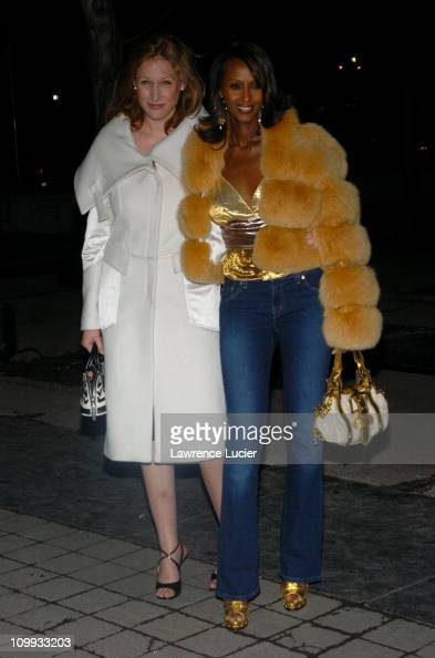 Amy Sacco and Iman during Louis Vuitton Celebrates its 150th Anniversary at Lincoln Center in New York City New York United States