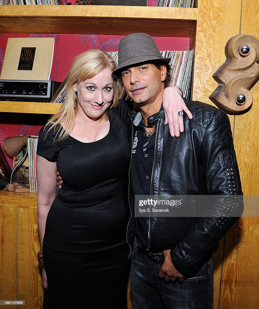 Amy Sacco and Marcus Schnackenberg attend 2nd Supermodel Saturday at No.8 on March 22, 2014 in New York City.