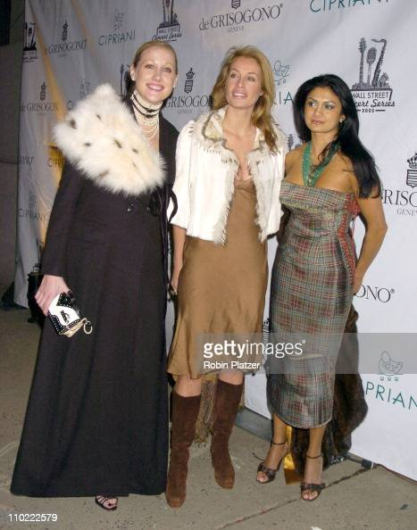 Amy Sacco Frederique van der Wal and during The 2005 Wall Street Concert Series Benefiting Wall Street Rising Starring Rod Stewart at Ciprianis Wall...