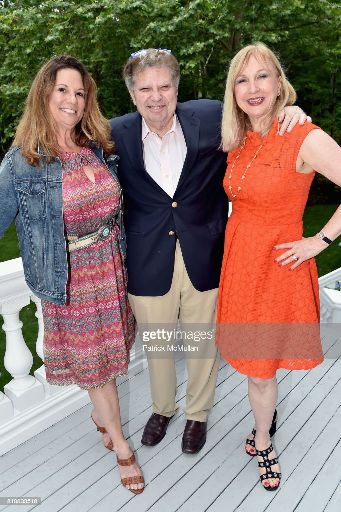 Amy Schaeffer, David Post and Katlean de Monchy attend Katrina and Don Peebles Host NY Mission Society Summer Cocktails at Private Residence on July 7, 2017 in Bridgehampton, New York.