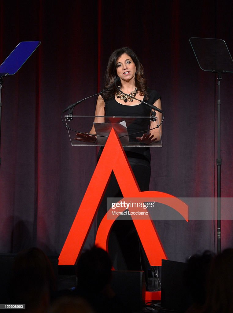 Amy Schecter speaks at the 16th Annual ACE Awards presented by the Accessories Council at Cipriani 42nd Street on November 5, 2012 in New York City.