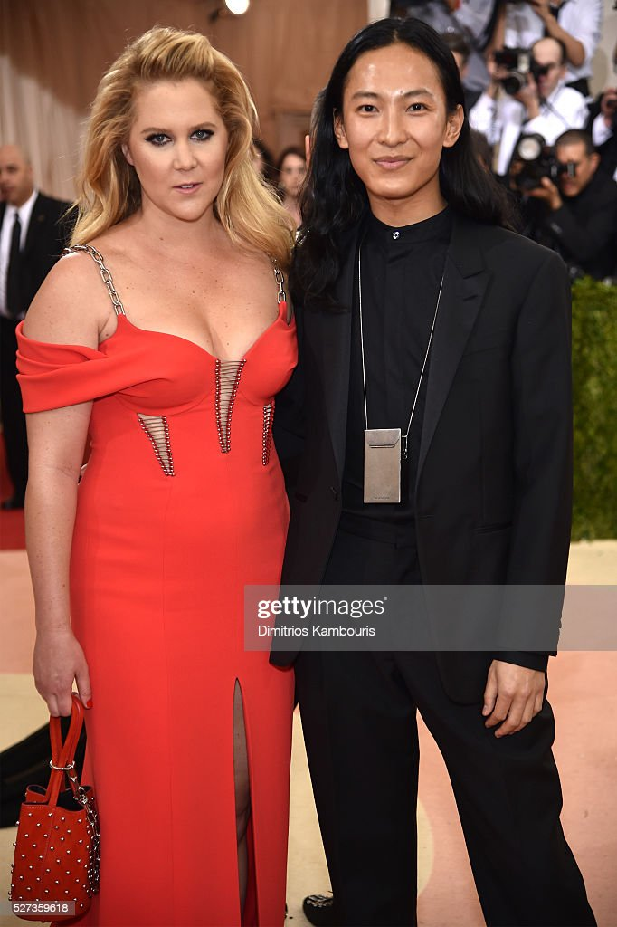 Amy Schumer and Alexander Wang attend the 'Manus x Machina Fashion In An Age Of Technology' Costume Institute Gala at Metropolitan Museum of Art on...