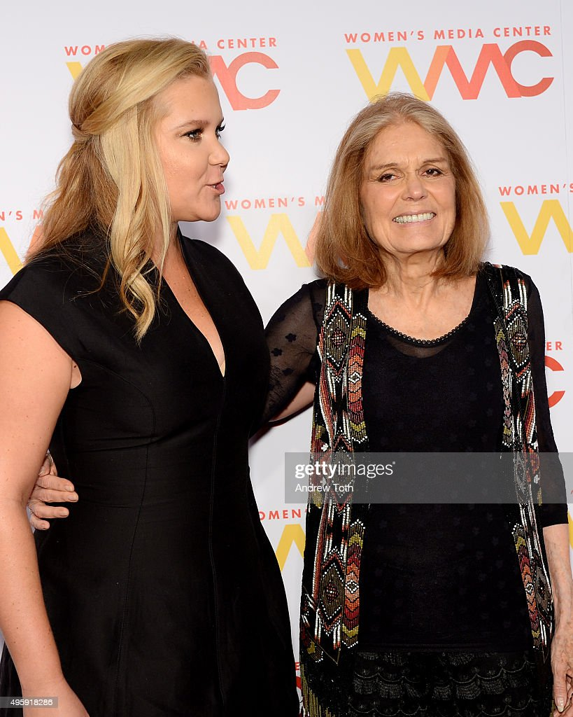 Amy Schumer and Gloria Steinem attend the 2015 Women's Media Awards presented by The Women's Media Center at Capitale on November 5 2015 in New York...