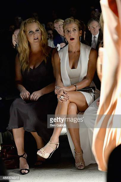 Amy Schumer and Jessica Seinfeld attend the Narciso Rodriguez Spring 2016 fashion show during New York Fashion Week at SIR Stage 37 on September 15...