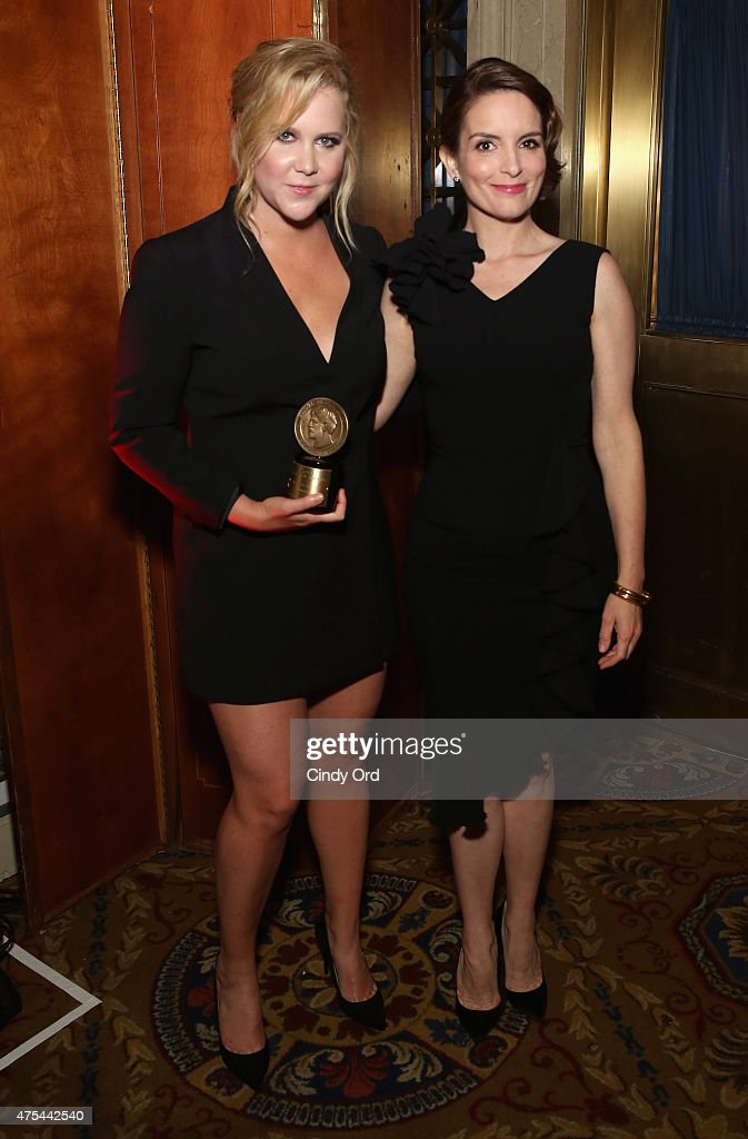 Amy Schumer and Tina Fey pose with award during The 74th Annual Peabody Awards Ceremony at Cipriani Wall Street on May 31 2015 in New York City