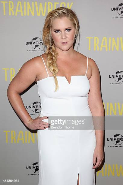 Amy Schumer arrives at the Trainwreck Australian premiere at Event Cinemas George Street on July 20 2015 in Sydney Australia