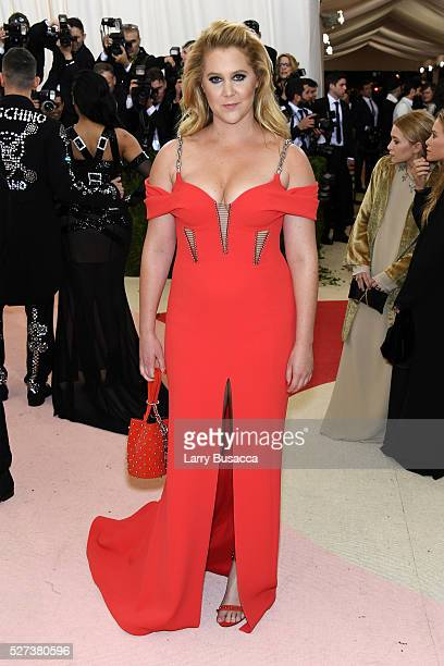 Amy Schumer attends the 'Manus x Machina Fashion In An Age Of Technology' Costume Institute Gala at Metropolitan Museum of Art on May 2 2016 in New...