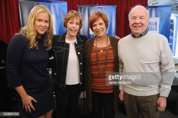 Amy Schumer Carol Burnett Vicki Lawrence and Tim Conway attend the SiriusXM Town Hall with Carol Burnett at SiriusXM Studios on September 26 2012 in...