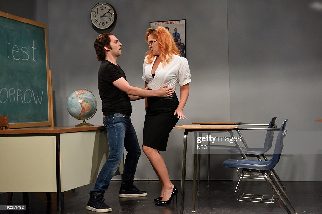 Photo of Kyle Mooney & his friend  Amy Schumer
