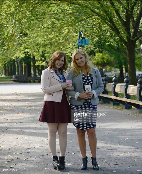 LIVE 'Amy Schumer' Episode 1685 Pictured Vanessa Bayer and Amy Schumer during the 'Selfie Stick' sketch on October 10 2015