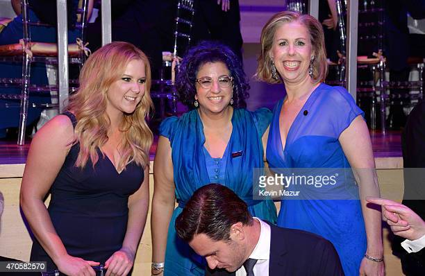 Amy Schumer Jenji Kohan and Managing Editor Time Magazine Nancy Gibbs attend TIME 100 Gala TIME's 100 Most Influential People In The World at Jazz at...