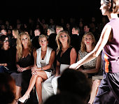 Amy Schumer Jessica Seinfeld Kate Upton and Laura Linney attend Narciso Rodriguez fashion show during Spring 2016 New York Fashion Week at SIR...