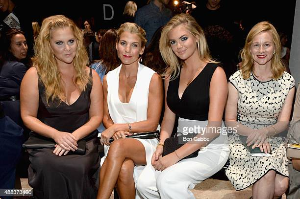 Amy Schumer Jessica Seinfeld Kate Upton and Laura Linney attend the Narciso Rodriguez Spring 2016 fashion show during New York Fashion Week at SIR...