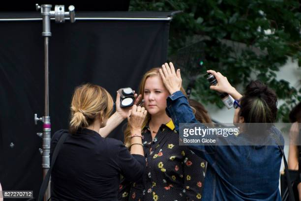 Amy Schumer on the set of a new movie filming on Tremont Street in Boston on Aug 7 2017