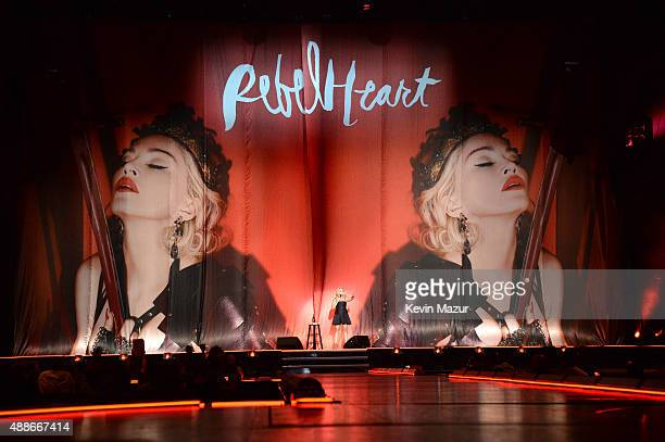 Amy Schumer performs onstage before Madonna's 'Rebel Heart' tour at Madison Square Garden on September 16 2015 in New York City