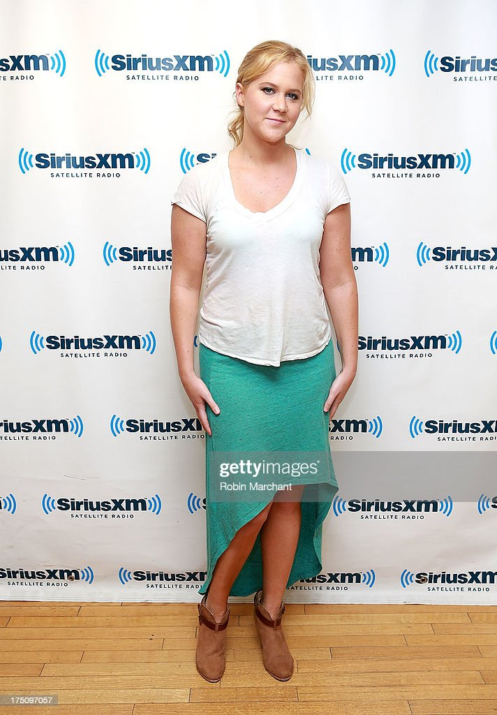 <a gi-track='captionPersonalityLinkClicked' href=/galleries/search?phrase=Amy+Schumer&family=editorial&specificpeople=4680682 ng-click='$event.stopPropagation()'>Amy Schumer</a> visits at SiriusXM Studios on July 31, 2013 in New York City.