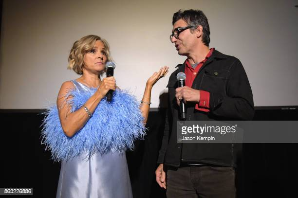 """Amy Sedaris and Cocreator and Executive Producer Paul Dinello speak during the premiere screening and party for truTV's new comedy series """"At Home..."""