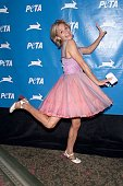 Amy Sedaris at PETA's 21st Anniversary Party and Humanitarian Awards at the WaldorfAstoria Hotel in New York City 9/8/2001 Photo Evan Agostini/Getty...