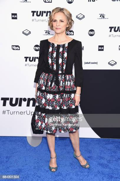 Amy Sedaris attends the Turner Upfront 2017 arrivals on the red carpet at The Theater at Madison Square Garden on May 17 2017 in New York City...
