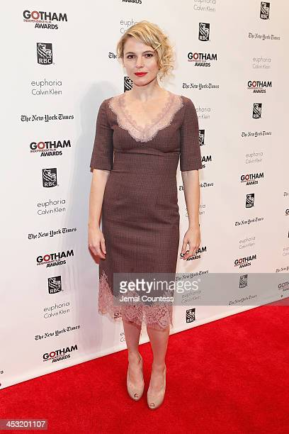 Amy Seimetz attends IFP's 23nd Annual Gotham Independent Film Awards at Cipriani Wall Street on December 2 2013 in New York City