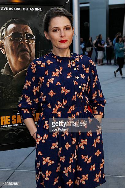 Amy Seimetz attends 'The Sacrament' Los Angeles Premiere at ArcLight Cinemas on May 20 2014 in Hollywood California