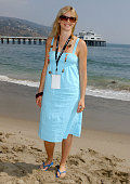 Amy Smart during The Rip Curl Malibu Pro Hosts 'Celebrity Surf 'Bout' Arrivals at Malibu Surfrider Beach in Malibu California United States