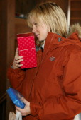 Amy Smart with The North Face Crest White Strips and Lather *Exclusive*