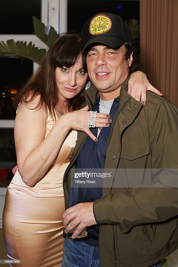 Amy Socco and <a gi-track='captionPersonalityLinkClicked' href=/galleries/search?phrase=Benicio+Del+Toro&family=editorial&specificpeople=203277 ng-click='$event.stopPropagation()'>Benicio Del Toro</a> attend the Worldview Entertainment Cannes Celebration during the 66th Annual Cannes Film Festival at Carlton Beach Club on May 17, 2013 in Cannes, France.