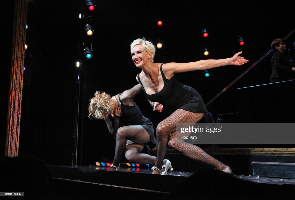 <a gi-track='captionPersonalityLinkClicked' href=/galleries/search?phrase=Amy+Spanger&family=editorial&specificpeople=234395 ng-click='$event.stopPropagation()'>Amy Spanger</a> (L) and Amra-Faye Wright attend opening night curtain call for Billy Ray Cyrus' Broadway stage debut as Billy Flynn in 'Chicago' at the Ambassador Theatre on November 5, 2012 in New York City.