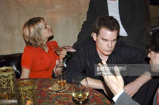 Amy Spanger and Michael C Hall during HBO's 'Six Feet Under' Season 5 Premiere After Party at Grauman's Chinese Theater in Hollywood California...