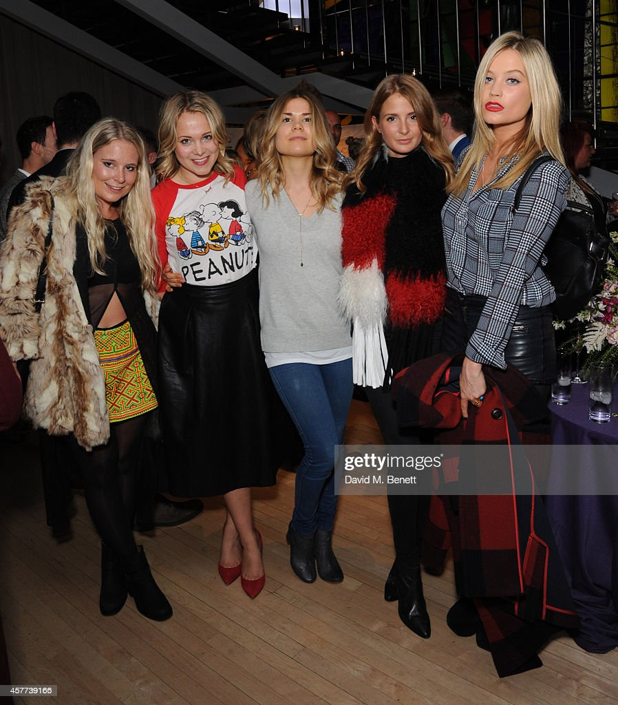 Amy Sturgis Poppy Jamie Madeleine Shaw Millie Mackintosh and Laura Whitmore attend the new product launch for Tanya Burr Cosmetics at Sanderson Hotel...