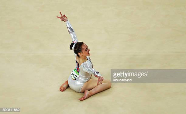 Amy Tinkler of Great Britain competes during the Women's Floor Final at Rio Olympic Arena on August 16 2016 in Rio de Janeiro Brazil