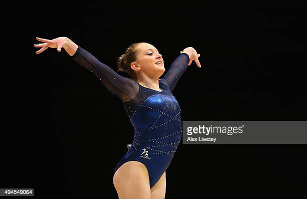 Amy Tinkler of Great Britain competes in the Floor during Day 5 of the 2015 World Artistic Gymnastics Championships at The SSE Hydro on October 27...