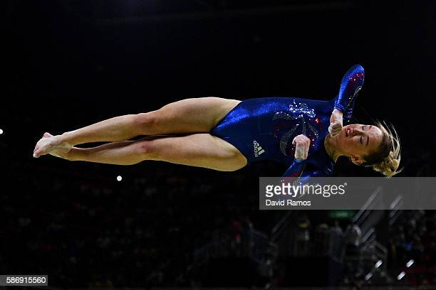 Amy Tinkler of Great Britain competes on the balance beam during Women's qualification for Artistic Gymnastics on Day 2 of the Rio 2016 Olympic Games...