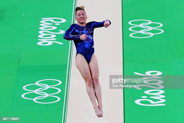 Amy Tinkler of Great Britain competes on the vault during Women's qualification for Artistic Gymnastics on Day 2 of the Rio 2016 Olympic Games at the...