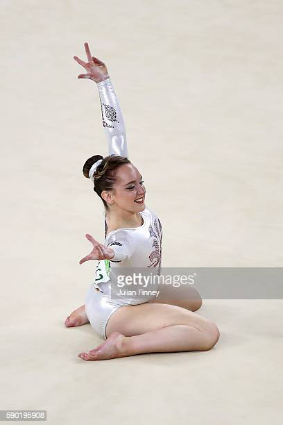 Amy Tinkler of Great Britain competes on the Women's Floor final on Day 11 of the Rio 2016 Olympic Games at the Rio Olympic Arena on August 16 2016...