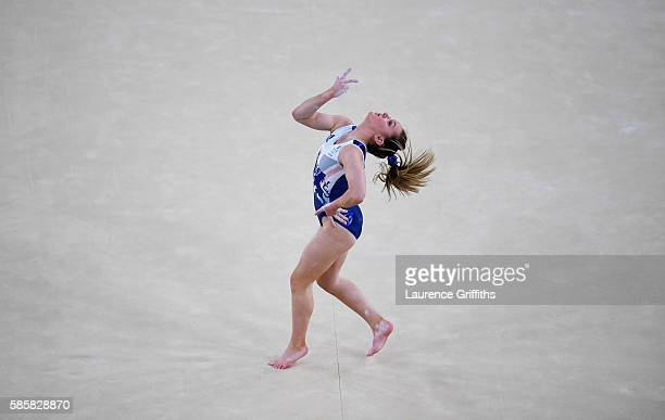 Amy Tinkler of Great Britain performs during an artistic gymnastics training session on August 4 2016 at the Arena Olimpica do Rio in Rio de Janeiro...