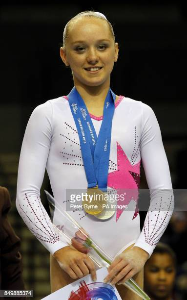 Amy Tinkler winner of a Gold and Silver Medal in the WAG Junior Apparatus Finals on Uneven Bars and Vault during the British Championships at the...