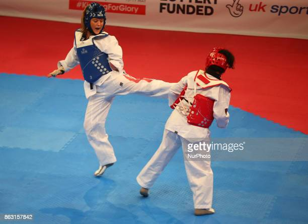 Amy Truesdale of Great Briatain against Rajae Akermach of Morocco K44 F 58KG Final during 7th World Para Taekwondo Championships 2017 at Copper Box...