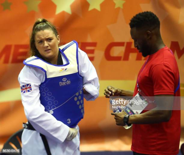 Amy Truesdale of Great Briatain during 7th World Para Taekwondo Championships 2017 at Copper Box Arena London on 19 Oct 2017