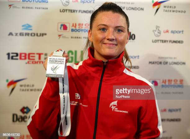 Amy Truesdale of Great Briatain With Gold Medal K44 F 58KG Final during 7th World Para Taekwondo Championships 2017 at Copper Box Arena London on 19...