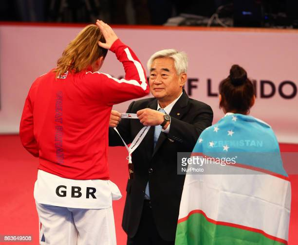 Amy Truesdale of Great Briatainreceive Gold Medal from President Cho of Para Taekwondo winning K44 F 58KG Final during 7th World Para Taekwondo...