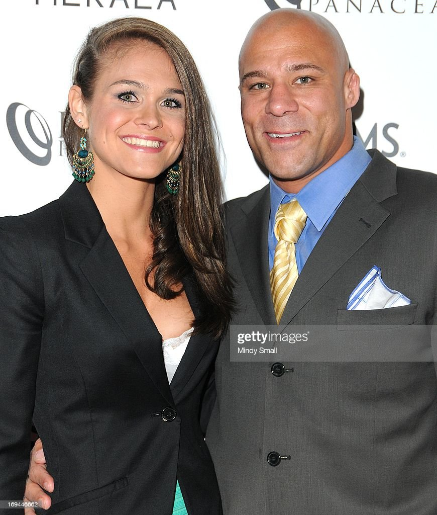 Amy Vaughn and Frank Trigg attend the Optical Panacea Launch Party at HERAEA at the Palms Casino Resort on May 24, 2013 in Las Vegas, Nevada.